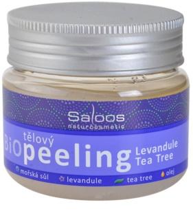 Saloos Bio Peeling exfoliant corporal cu lavandă și arbore de ceai