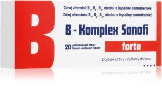 Sanofi B-Komplex forte doplněk stravy s komplexem vitaminů skupiny B