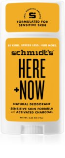 Schmidt's Here + Now by Justin Bieber deodorant stick