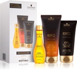 Schwarzkopf Professional BC Bonacure Oil Miracle Argan Oil lote de regalo I. (para cabello áspero) para mujer