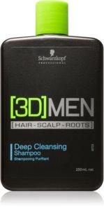 Schwarzkopf Professional [3D] MEN szampon dogłębnie oczyszczający