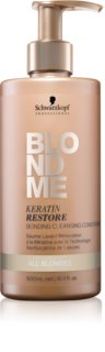 Schwarzkopf Professional Blondme condicionador de limpeza para todos os tipos de cabelo loiro