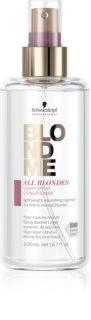 Schwarzkopf Professional Blondme All Blondes Light Kevyt Hoitoaine Suihkeessa