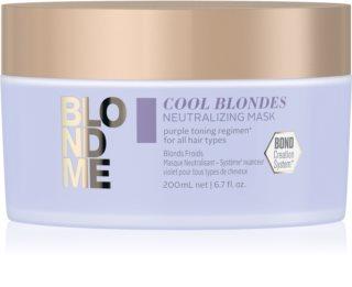 Schwarzkopf Professional Blondme Cool Blondes Närande mask för neutralisering av gula toner