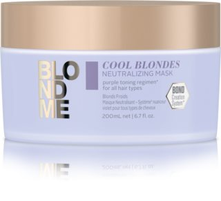 Schwarzkopf Professional Blondme Cool Blondes Maske mit ernährender Wirkung neutralisiert gelbe Verfärbungen