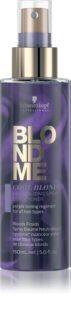 Schwarzkopf Professional Blondme Cool Blondes ausspülfreier Conditioner im Spray neutralisiert gelbe Verfärbungen