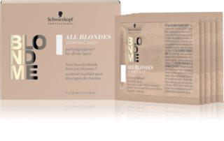 Schwarzkopf Professional Blondme All Blondes Detox vitaminreiches Konzentrat für blondes und meliertes Haar