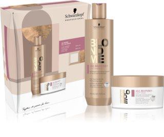 Schwarzkopf Professional Blondme All Blondes Light confezione regalo (per capelli delicati e normali)