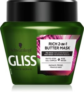 Schwarzkopf Gliss Rich 2-IN-1 Butter regenerační maska pro křehké vlasy