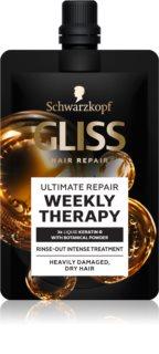 Schwarzkopf Gliss Ultimate Repair Weekly Therapy týždenné intenzívne ošetrenie pre suché a poškodené vlasy