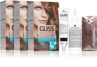 Schwarzkopf Gliss Color coloration cheveux 7-7 Copper Dark Blonde (conditionnement avantageux) teinte