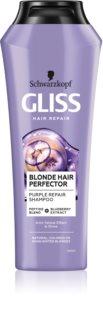 Schwarzkopf Gliss Blonde Hair Perfector Violetti Hiustenpesuaine Keltaisten Sävyjen Neutraloimiseen