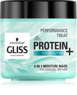 Schwarzkopf Gliss Protein+ Hydratisierende Maske mit Kakaobutter