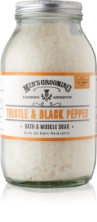 Scottish Fine Soaps Men's Grooming Thistle & Black Pepper Soothing Bath Salt for Men