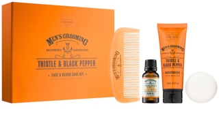 Scottish Fine Soaps Men's Grooming Thistle & Black Pepper Cosmetic Set II. for Men