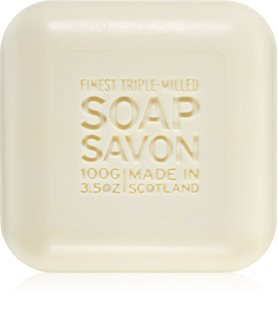 Scottish Fine Soaps Men's Grooming Thistle & Black Pepper Bar Soap for Face and Beard
