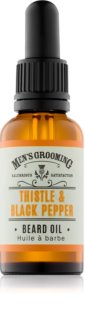 Scottish Fine Soaps Men's Grooming Thistle & Black Pepper olio da barba