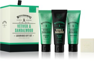 Scottish Fine Soaps Men's Grooming Vetiver & Sandalwood coffret V. para homens