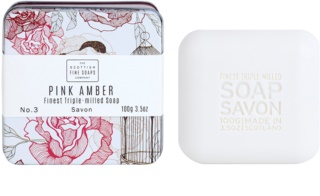 Scottish Fine Soaps Pink Amber Bar Soap in a Tin Container