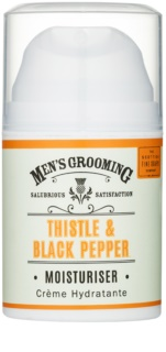 Scottish Fine Soaps Men's Grooming Thistle & Black Pepper gel idratante per il viso
