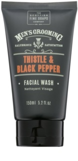 Scottish Fine Soaps Men's Grooming Thistle & Black Pepper Reinigungsgel für das Gesicht
