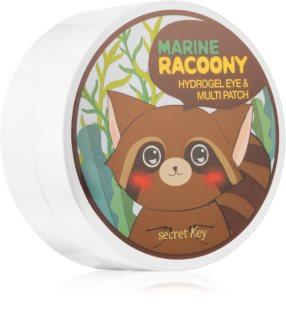 Secret Key Racoony Marine интензивна хидрогелна маска с екстракти от водорасли