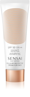 Sensai Silky Bronze crema contur pentru bronzat SPF 50