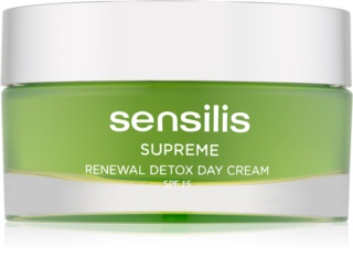 Sensilis Supreme Renewal Detox Detoxifying and Regenerating Day Cream SPF 15
