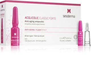 Sesderma Acglicolic Classic Forte Facial przeciwzmarszczkowe serum nawilżające z AHA