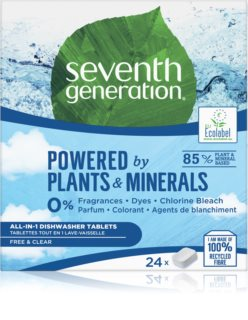 Seventh Generation Powered by Plants Dishwasher Tablets cápsulas para máquina de lavar louça