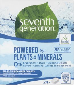 Seventh Generation Powered by Plants Dishwasher Tablets tablettes pour lave-vaisselle