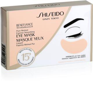 Shiseido Benefiance WrinkleResist24 Pure Retinol  Express Smoothing Eye Mask maska za oči protiv bora s retinolom