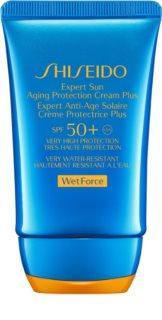 Shiseido Sun Care Expert Sun Aging Protection Cream WetForce crema abbronzante viso SPF 50+