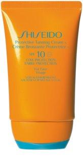 Shiseido Sun Care Protective Tanning Cream слънцезащитен крем за лице SPF 10