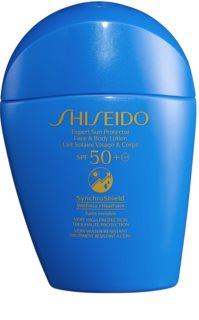 Shiseido Sun Care Expert Sun Protector Face & Body Lotion Sol-lotion för ansikte och kropp SPF 50+