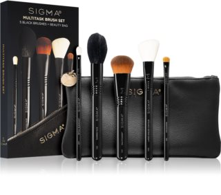 Sigma Beauty Untamed Multitask Brush Set Conjunto de pincéis com bolsa