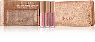 Sigma Beauty Rendezvous Beloved Mini Lip Set conjunto de gloss (com glitter )