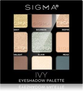 Sigma Beauty Eyeshadow Palette Ivy παλέτα με σκιές ματιών