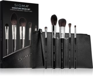 Sigma Beauty Signature Brush Set Kit de pinceaux avec pochette