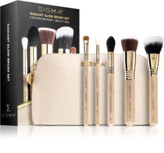 Sigma Beauty Radiant Glow Brush Set cestovná sada štetcov s taštičkou