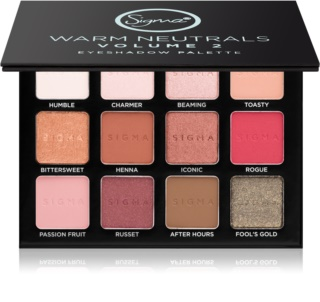 Sigma Beauty Warm Neutrals palette de fards à paupières