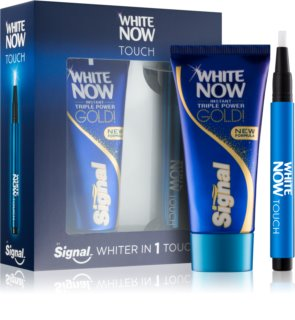Signal White Now Triple Power Gold coffret cosmétique I. mixte