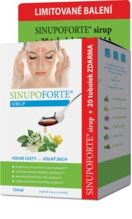 SINUPO Forte Sirup 150 ml + 20 tob.  doplněk stravy  (pro normální funkci dýchacího systému)