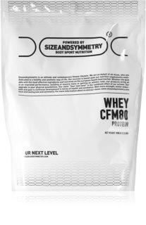 SizeAndSymmetry Whey Protein 80 CFM syrovátkový protein v prášku  white chocolate & pistachio