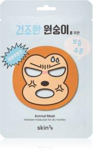 Skin79 Animal For Dry Monkey платнена маска с силно хидратиращ и подхранващ ефект