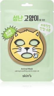 Skin79 Animal For Angry Cat Fugtgivende og lindrende sheetmaske