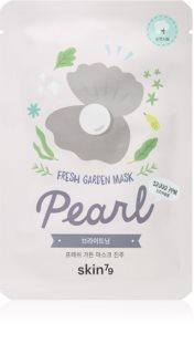 Skin79 Fresh Garden Pearl λαμπρυντική υφασμάτινη μάσκα λάμψης