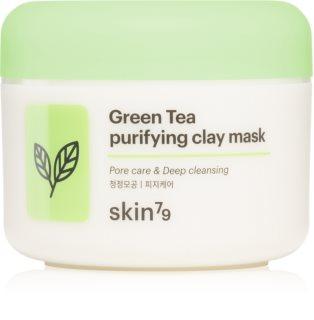 Skin79 Green Tea дълбоко почистваща пилинг маска  с глина