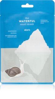 Skin79 Snail The Waterful хидратираща платнена маска с екстракт от охлюв