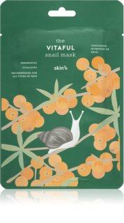 Skin79 Snail The Vitaful Αντιοξειδωτική Υφασμάτινη μάσκα με εκχύλισμα σαλιγκαριών